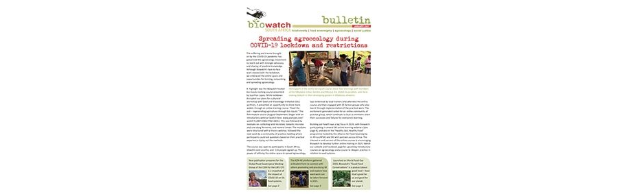 Biowatch Bulletin: January 2021