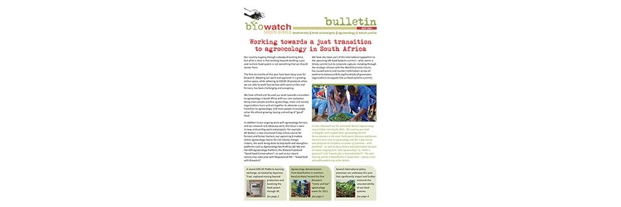 Biowatch Bulletin: July 2021