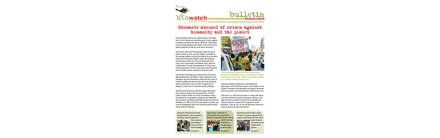Biowatch Bulletin: December 2016