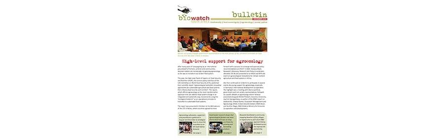 Biowatch Bulletin: December 2019