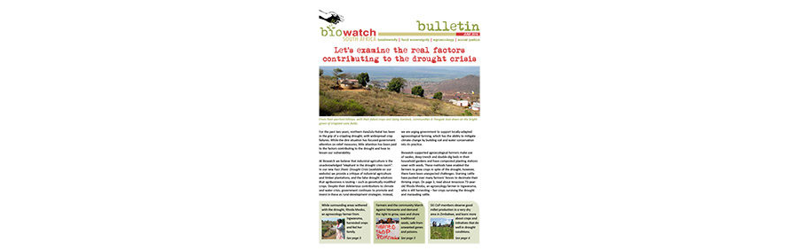 Biowatch Bulletin: June 2016