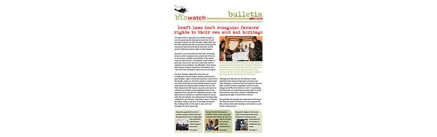 Biowatch Bulletin: June 2017