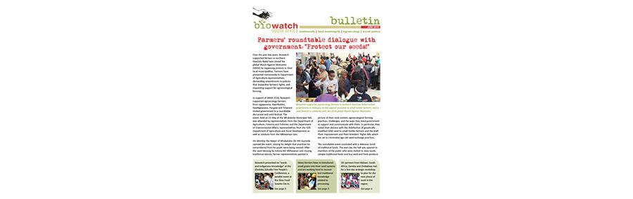 Biowatch Bulletin: June 2018