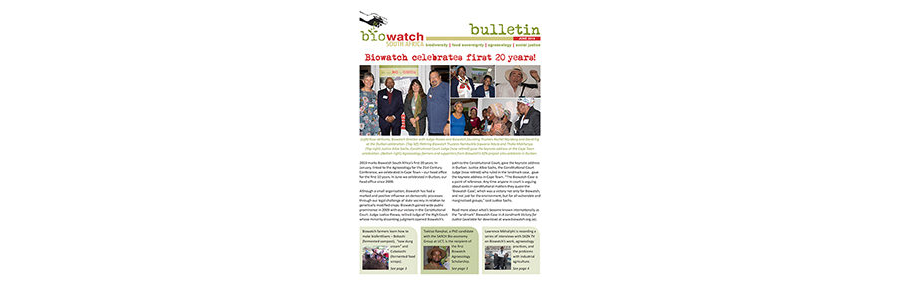 Biowatch Bulletin: June 2019